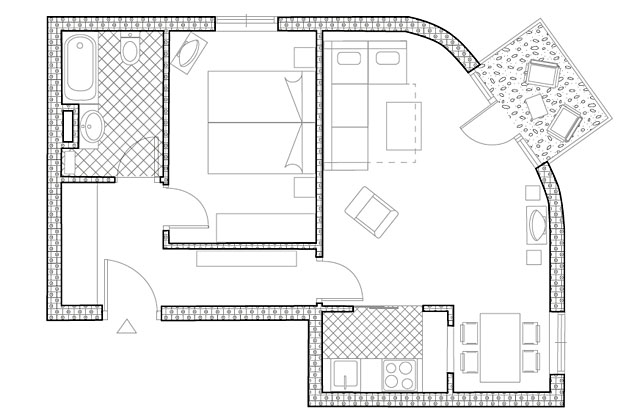 386 -  Grundriss / floor plan